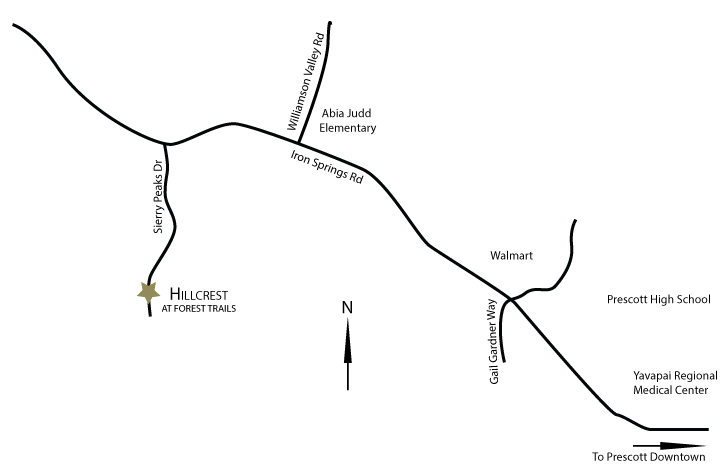 Hillcrest at Forest Trails Area Map